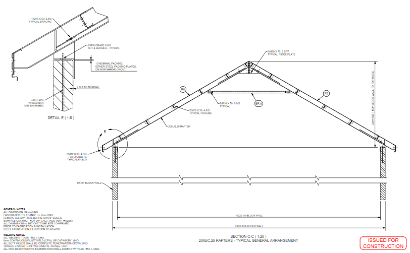 Shed - Drafting and Steel Erection