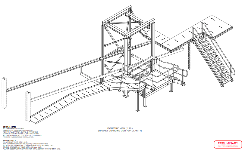 TRAMP MAGNET STRUCTURE & ACCESS